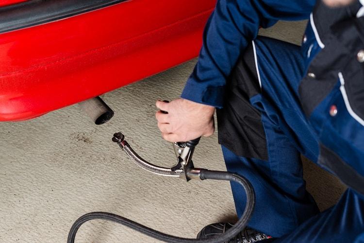 Diesel-Fahrzeug-Abgas-Untersuchung
